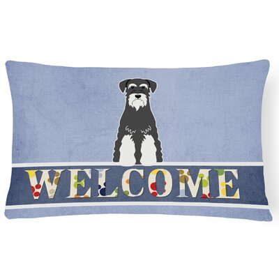 Hedlund Standard Schnauzer Welcome Decorative Pillow