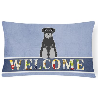 Heffner Standard Schnauzer Welcome Lumbar Pillow