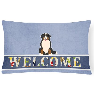 Heinemann Bernese Mountain Dog Welcome Lumbar Pillow