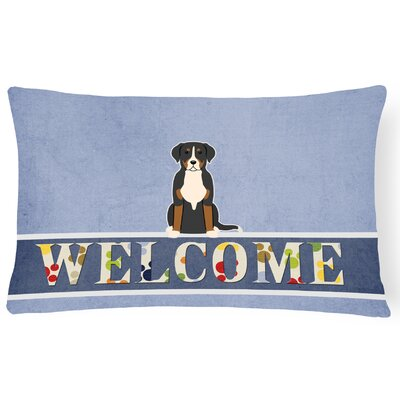 Heintzelman Greater Swiss Mountain Dog Welcome Lumbar Pillow