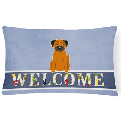 Heitmann Border Terrier Welcome Lumbar Pillow