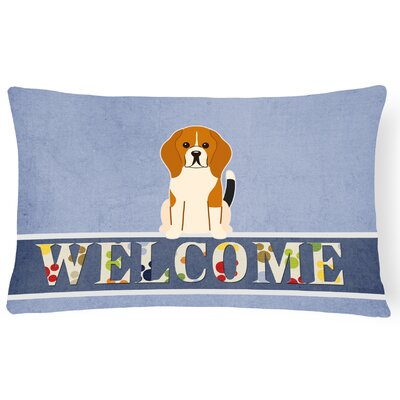 Helena Beagle Welcome Lumbar Pillow