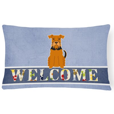 Hemming Airedale Welcome Lumbar Pillow