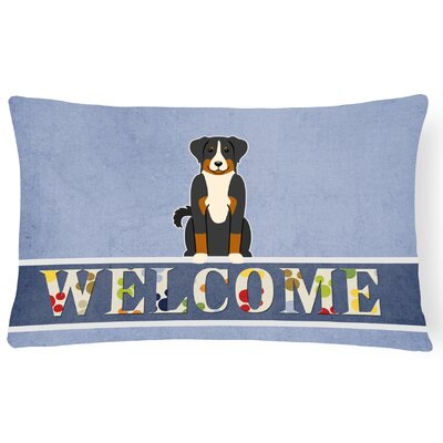 Hennen Appenzeller Sennenhund Welcome Lumbar Pillow