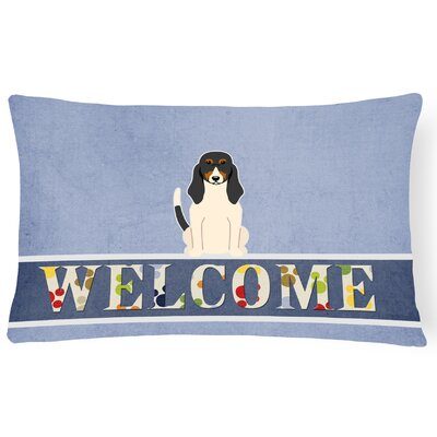 Hennessey Swiss Hound Welcome Lumbar Pillow