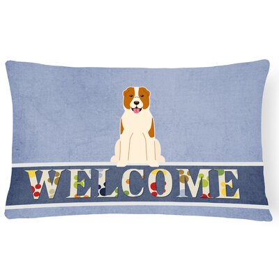 Knudtson Central Asian Shepherd Dog Welcome Lumbar Pillow