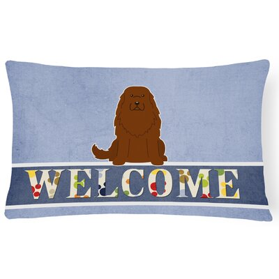 Knutson Caucasian Shepherd Dog Welcome Lumbar Pillow