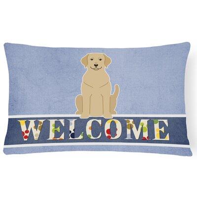Kovach Yellow Labrador Welcome Lumbar Pillow