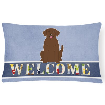 Switkes Labrador Welcome Lumbar Pillow