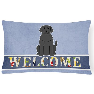 Krauss Labrador Welcome Lumbar Pillow