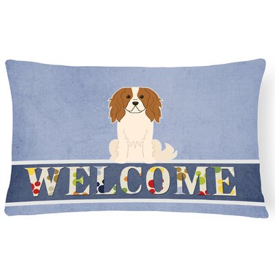 Krueger Cavalier Spaniel Welcome Lumbar Pillow