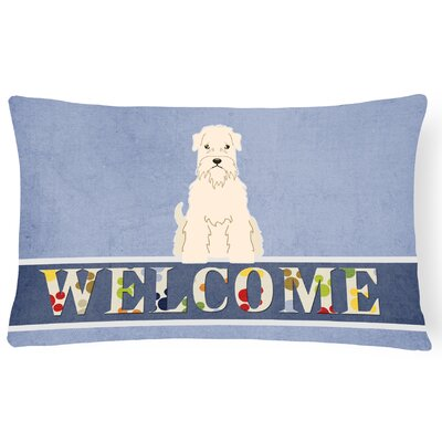 Kuhlmann Soft Coated Wheaten Terrier Welcome Lumbar Pillow