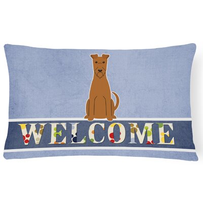 Labarre Irish Terrier Welcome Lumbar Pillow