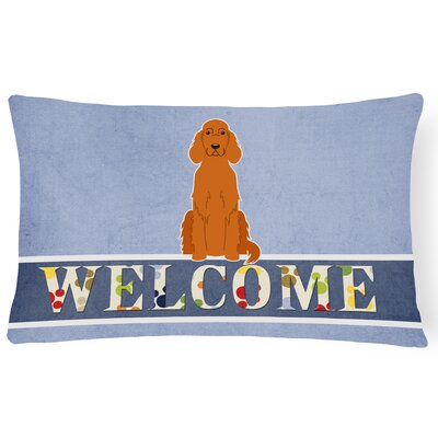 Lacon Irish Setter Welcome Lumbar Pillow