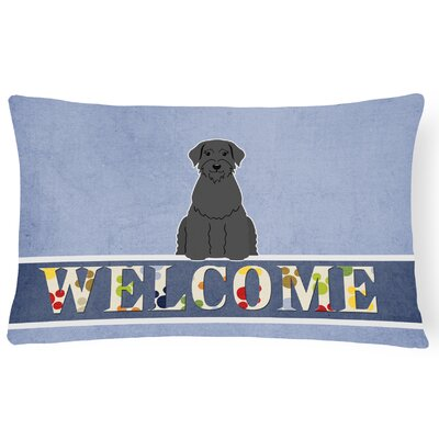 Ladd Giant Schnauzer Welcome Lumbar Pillow