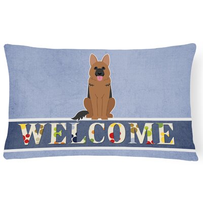 Lafond German Shepherd Welcome Lumbar Pillow