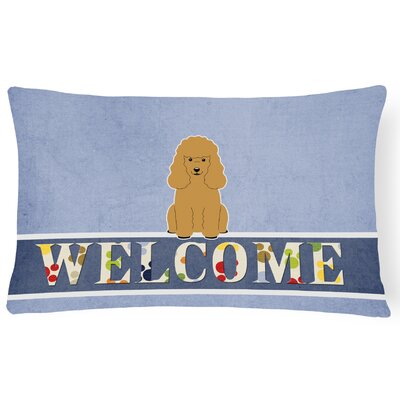 Lakemoor Poodle Welcome Lumbar Pillow Pillow Cover Color: Tan