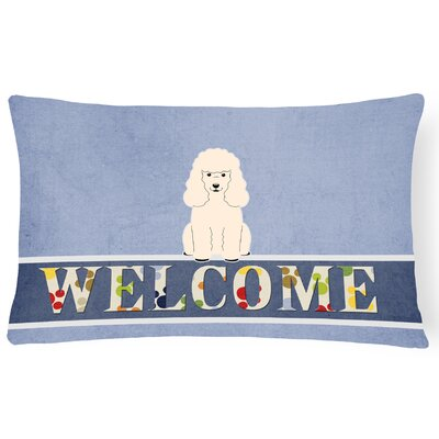 Lakemoor Poodle Welcome Lumbar Pillow Pillow Cover Color: White