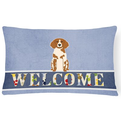 Lamarche Brittany Spaniel Welcome Lumbar Pillow