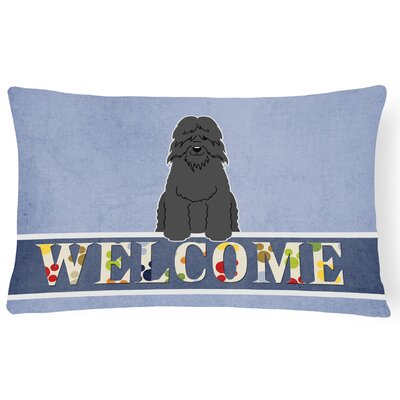 Ranshaw Bouvier Des Flandres Welcome Lumbar Pillow