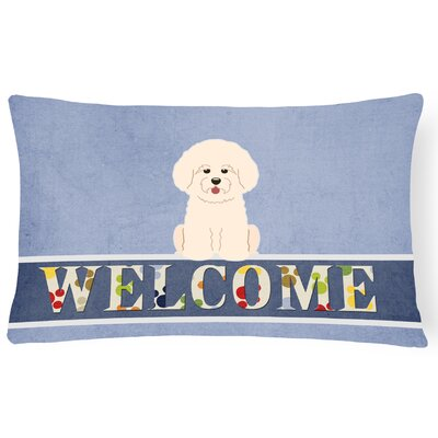 Rathbone Bichon Frise Welcome Lumbar Pillow