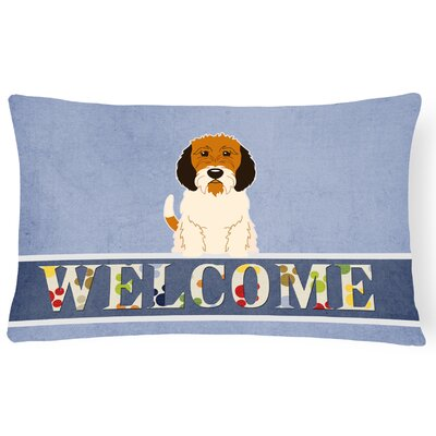 Ravenwood Petit Basset Griffon Veenden Welcome Lumbar Pillow