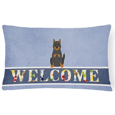 Rebersburg Beauce Shepherd Dog Welcome Lumbar Pillow