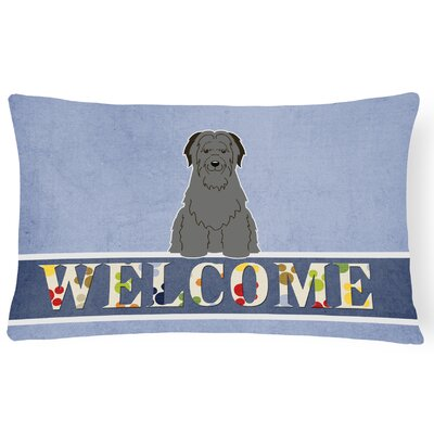 Redfield Briard Welcome Lumbar Pillow
