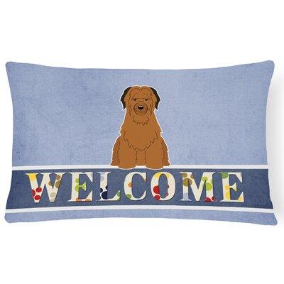 Reedsville Briard Welcome Lumbar Pillow