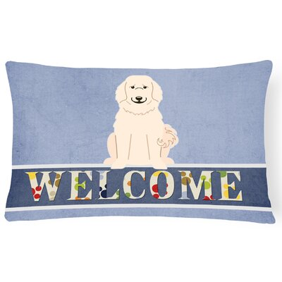 Refton Great Pyrenese Welcome Lumbar Pillow
