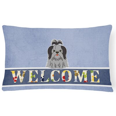 Renningers Shih Tzu Welcome Lumbar Pillow