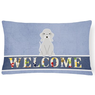Renovo Bedlington Terrier Welcome Lumbar Pillow Pillow Cover Color: Blue