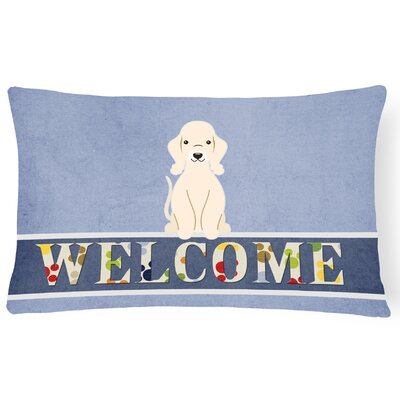Renovo Bedlington Terrier Welcome Lumbar Pillow Pillow Cover Color: Sandy