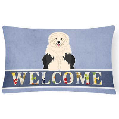 Rheems Old English Sheepdog Welcome Lumbar Pillow