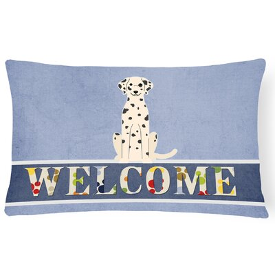 Rhinebeck Dalmatian Welcome Lumbar Pillow