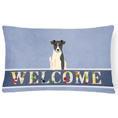 Rhynwood Smooth Fox Terrier Welcome Lumbar Pillow
