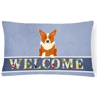 Richford Corgi Welcome Lumbar Pillow