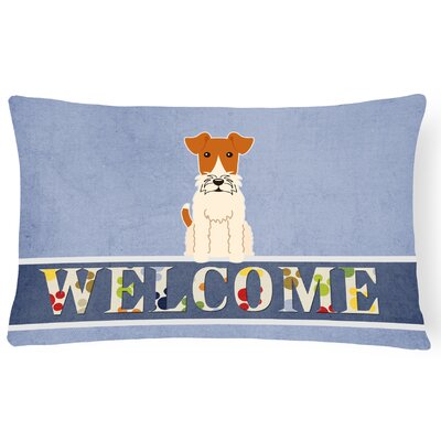 Richmondville Wire Fox Terrier Welcome Lumbar Pillow