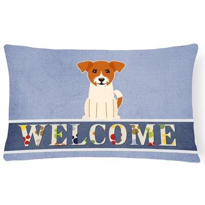 Ridley Jack Russell Terrier Welcome Lumbar Pillow