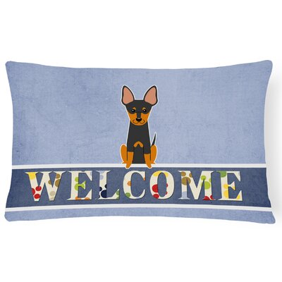 Riegelsville English Toy Terrier Welcome Lumbar Pillow