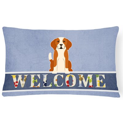 Robesonia English Foxhound Welcome Lumbar Pillow