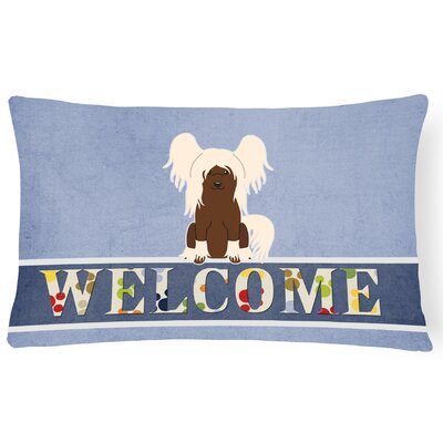 Rockhill Chinese Crested Welcome Lumbar Pillow Pillow Cover Color: Cream
