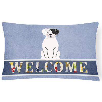 Rockledge Boxer Cooper Welcome Lumbar Pillow