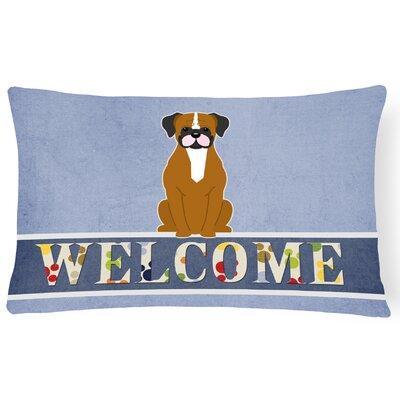 Rodman Fawn Boxer Welcome Lumbar Pillow