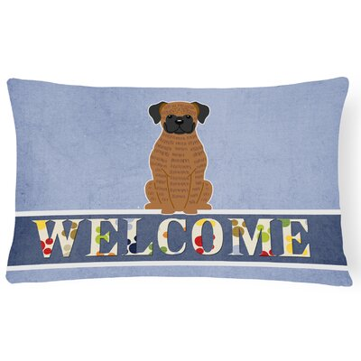 Rogersville Brindle Boxer Welcome Lumbar Pillow