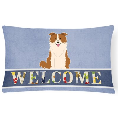 Rohrsburg Border Collie Welcome Lumbar Pillow Pillow Cover Color: Brown