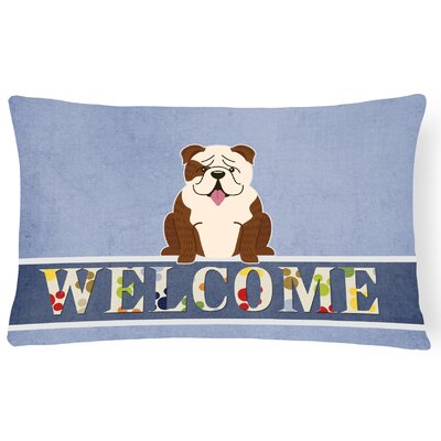 Rosendale English Bulldog Brindle Welcome Lumbar Pillow