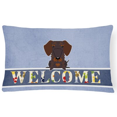 Rotterdam Wire Haired Dachshund Welcome Lumbar Pillow