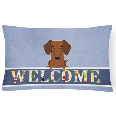 Rouseville Dachshund Welcome Lumbar Pillow Pillow Cover Color: Brown