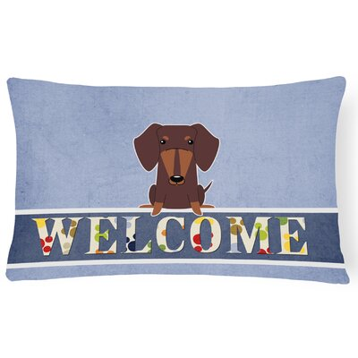 Rouseville Dachshund Welcome Lumbar Pillow Pillow Cover Color: Chocolate